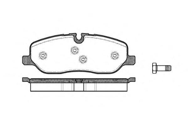 Колодки тормозные дисковые Remsa, комплект. 115800115800