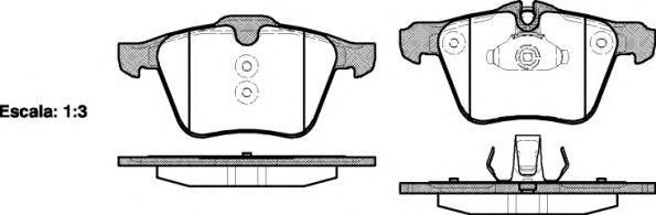Колодки тормозные дисковые Remsa, комплект. 121700121700