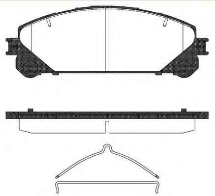 Колодки тормозные дисковые передние Remsa 131200131200