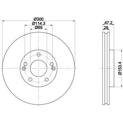 Диск тормозной BEHR-HELLA 8DD355114511 комплект 2 шт8DD355114511