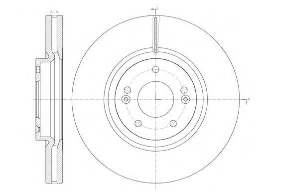 Диск тормозной передний Remsa 6146210 комплект 2 шт6146210