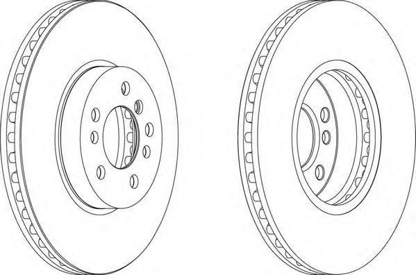 Диск тормозной передний Ferodo DDF1256 комплект 2 штDDF1256