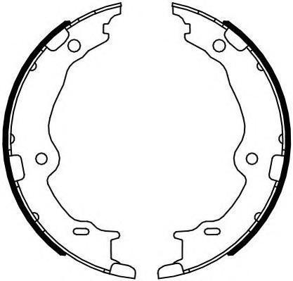 Колодки тормозные барабанные ручного тормоза Ferodo FSB4123FSB4123
