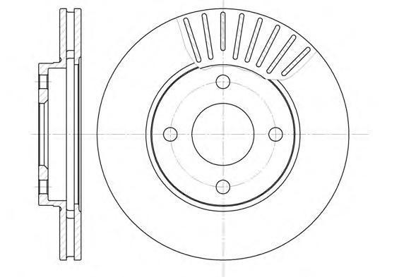 Диск тормозной передний вентилируемый Road House657510 комплект 2 шт657510