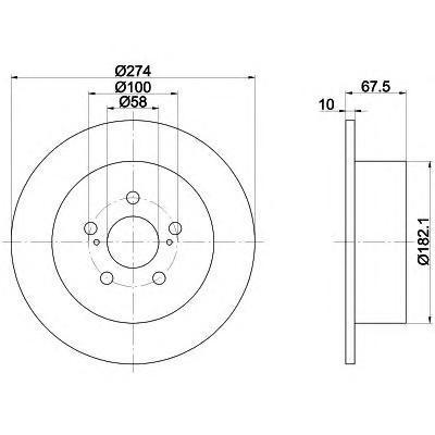 Диск тормозной Textar 92167800 комплект 2 шт92167800