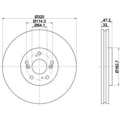 Диск тормозной передний вентилируемый Textar 9219490092194900