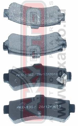 Колодки тормозные дисковые задние AKYOTO AKD1362AKD1362