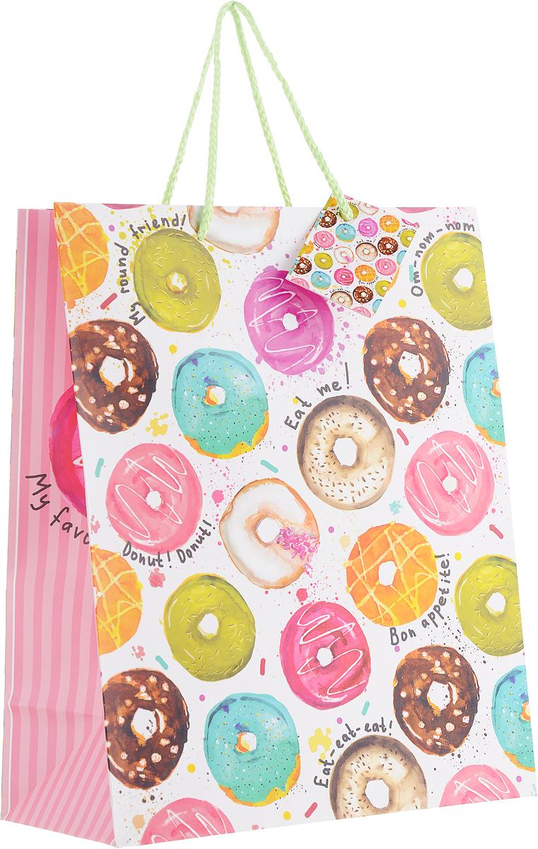 Пакет подарочный Magic Home Пончики, 26 x 32,4 x 12,7 см magic time подарочный пакет новогодняя лампа 26 32 4 12 7 см
