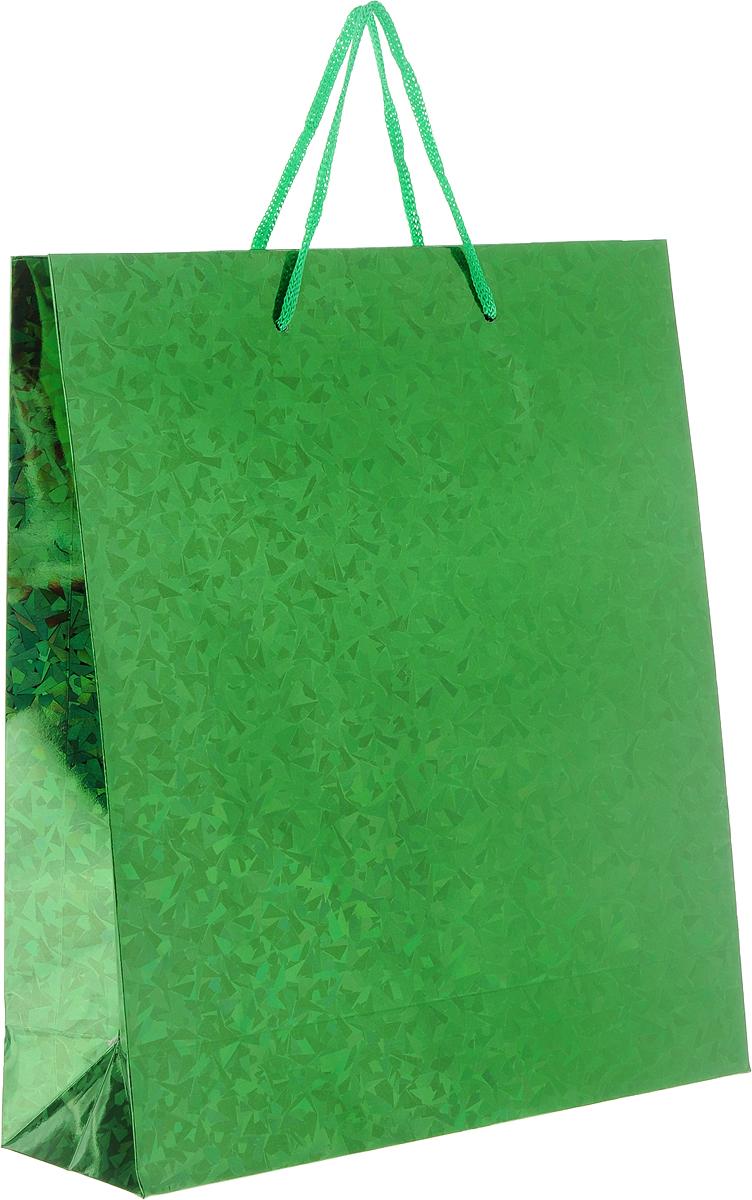 Пакет подарочный Magic Home Зеленый глянец, 24 x 28 x 9 см76568Бумажный пакет для сувенирной продукции ЗЕЛЕНЫЙ ГЛЯНЕЦ от Magic Home - это стильный и практичный вариант упаковки подарка. Авторский дизайн, красочное изображение, тематический рисунок - все слагаемые оригинального оформления подарка. Окружите близких людей вниманием и заботой, вручив презент в нарядном, праздничном оформлении. Пакет изготовлен из плотной бумаги. Для удобства переноски имеются две веревочные ручки. Дно и верхний край укреплены картоном. Красивый подарочный пакет придаст дополнительный запоминающийся эффект от подарка или покупки.