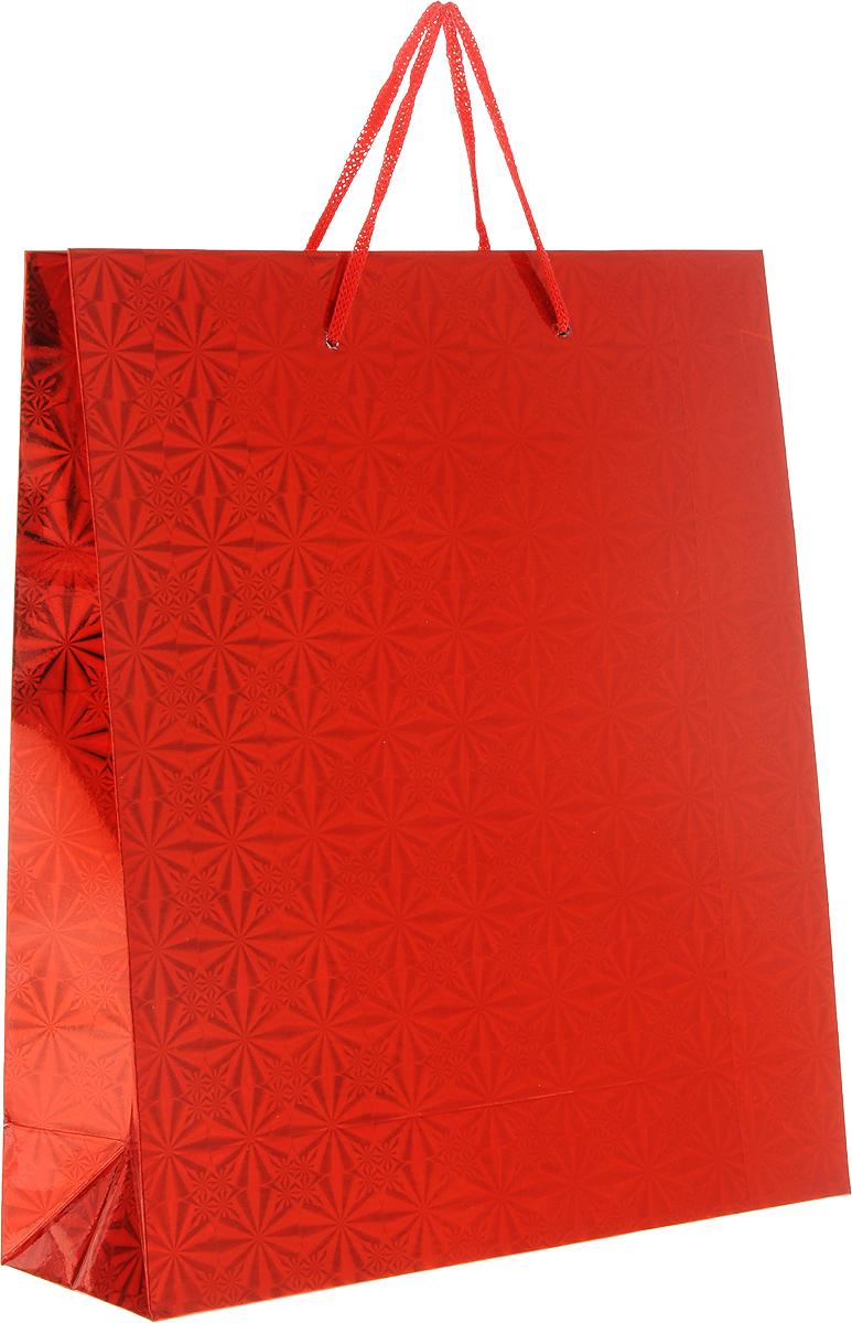 Пакет подарочный Magic Home Красный глянец, 24 x 28 x 9 см76571Подарочный пакет Magic Home, изготовленный из плотной бумаги, станет незаменимым дополнением к выбранному подарку. Дно изделия укреплено картоном, который позволяет сохранить форму пакета и исключает возможность деформации дна под тяжестью подарка. Пакет выполнен с глянцевой ламинацией, что придает ему прочность, а изображению - яркость и насыщенность цветов. Для удобной переноски имеются две ручки в виде шнурков.