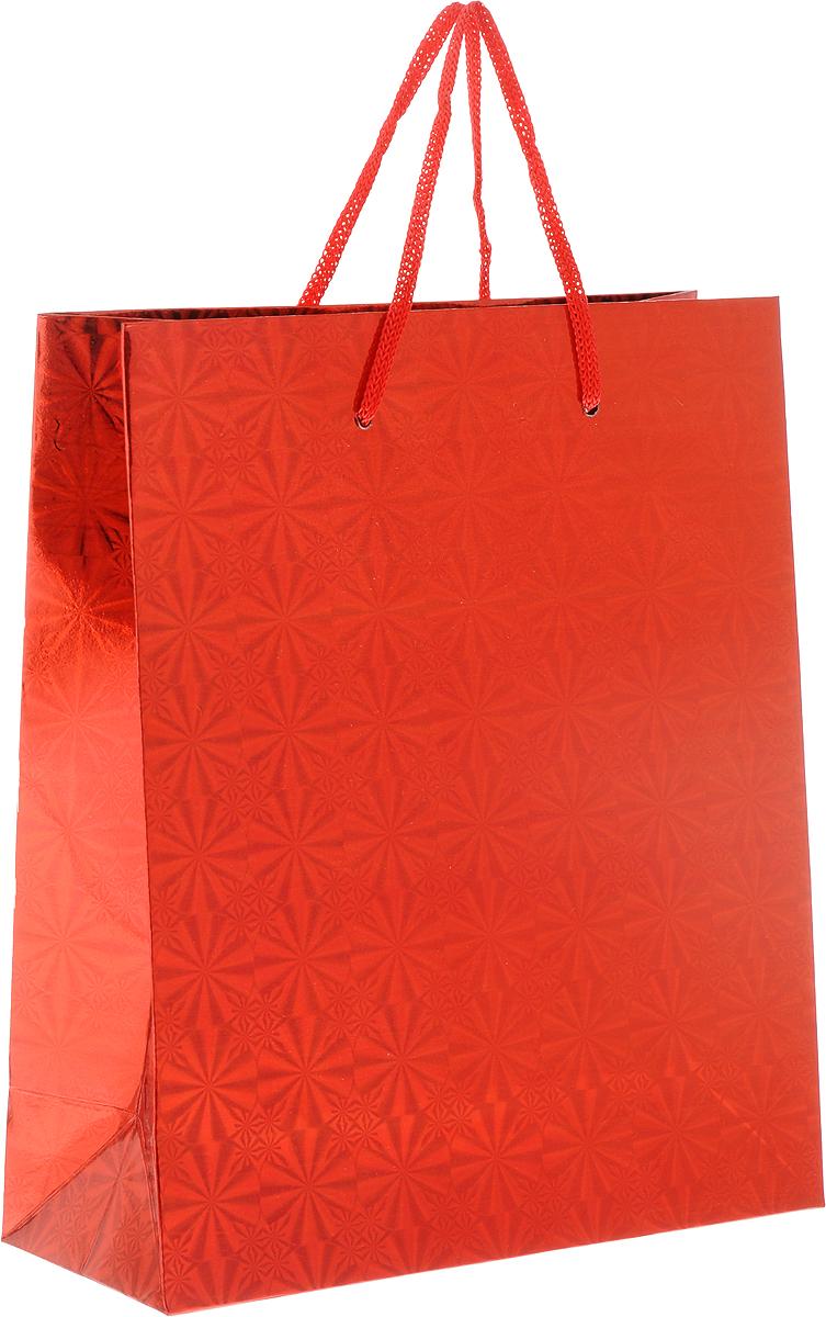 Пакет подарочный Magic Home Красный глянец, 19 x 22 x 8 см1073299Подарочный пакет Magic Home, изготовленный из плотной бумаги, станет незаменимым дополнением к выбранному подарку. Дно изделия укреплено картоном, который позволяет сохранить форму пакета и исключает возможность деформации дна под тяжестью подарка.Пакет выполнен с глянцевой ламинацией, что придает ему прочность, а изображению - яркость и насыщенность цветов. Для удобной переноски имеются две ручки в виде шнурков.