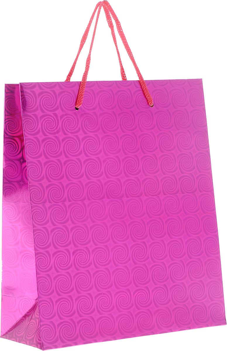 Пакет подарочный Magic Home Пурпурный глянец, 19 x 22 x 8 см1418790Подарочный пакет Magic Home, изготовленный из плотной бумаги, станет незаменимым дополнением к выбранному подарку. Дно изделия укреплено картоном, который позволяет сохранить форму пакета и исключает возможность деформации дна под тяжестью подарка.Пакет выполнен с глянцевой ламинацией, что придает ему прочность, а изображению - яркость и насыщенность цветов. Для удобной переноски имеются две ручки в виде шнурков.