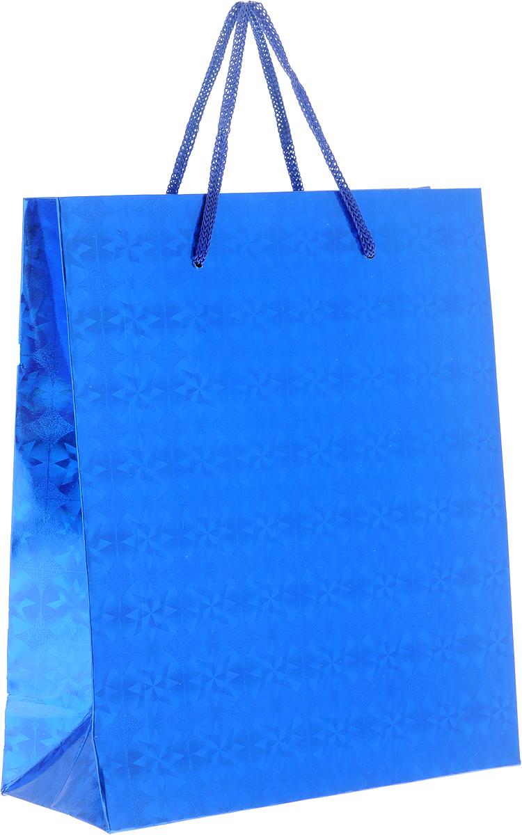 Пакет подарочный Magic Home Синий глянец, 19 x 22 x 8 см1125414Подарочный пакет Magic Home, изготовленный из плотной бумаги, станет незаменимым дополнением к выбранному подарку. Дно изделия укреплено картоном, который позволяет сохранить форму пакета и исключает возможность деформации дна под тяжестью подарка.Пакет выполнен с глянцевой ламинацией, что придает ему прочность, а изображению - яркость и насыщенность цветов. Для удобной переноски имеются две ручки в виде шнурков.