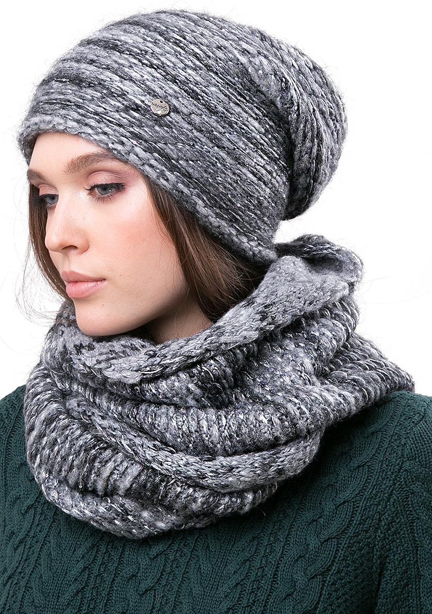 Шапка женская Dispacci, цвет: серый. 21206CR. Размер 56/58 шапка женская sela цвет серый hak 141 019w 6404 размер 56 58