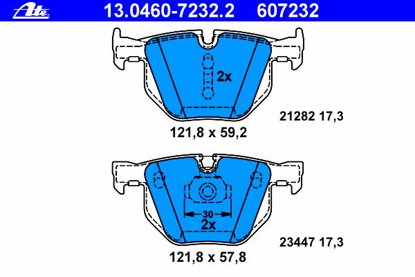 Колодки тормозные дисковые13046072322