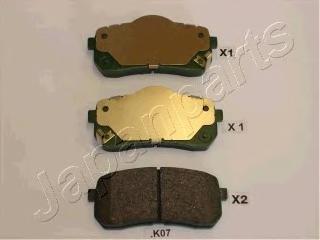 Колодки тормозные дисковые Japanparts PPK07AFPPK07AF
