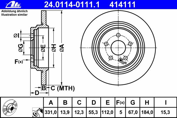 Диск тормозной Ate 24011401111 комплект 2 шт24011401111