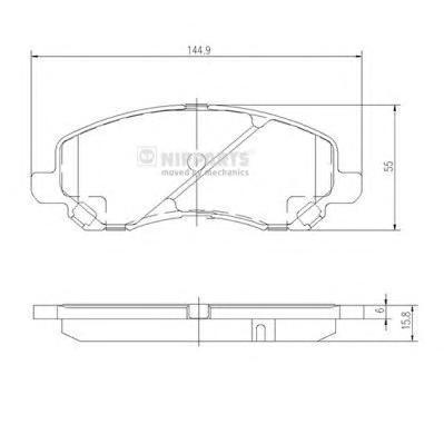 Nipparts Колодки тормозные передние. J3605046J3605046