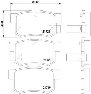 Колодки тормозные дисковые, комплект BEHR-HELLA 8DB3550164518DB355016451