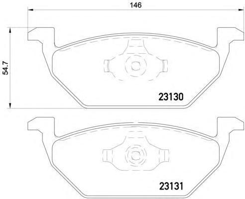 Колодки тормозные дисковые, комплект BEHR-HELLA 8DB3550085918DB355008591