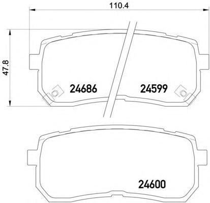 Колодки тормозные задние Textar 24599012459901