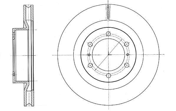 Диск тормозной передний вентилируемый Remsa 6133110 комплект 2 шт6133110