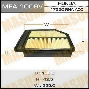 Фильтр воздушный Masuma MFA1009MFA1009