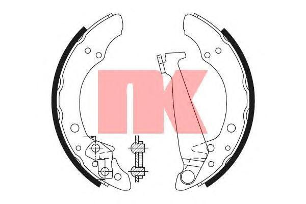 Колодки тормозные NK 2799520