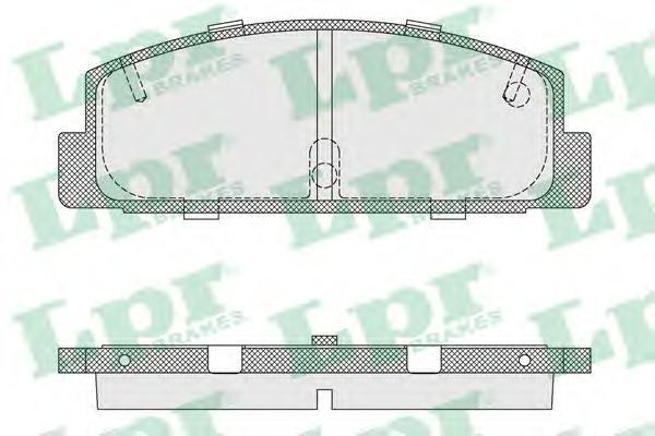 Колодки тормозные дисковые задние LPR / AP 05P33605P336