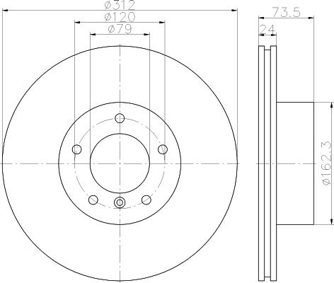 Диск тормозной передний Textar 92176105 комплект 2 шт92176105