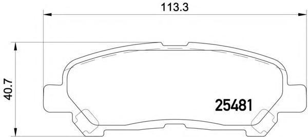 Колодки тормозные дисковые, комплект BEHR-HELLA 8DB3550201318DB355020131