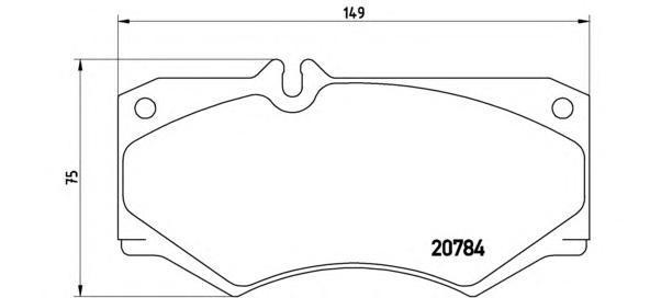 Колодки тормозные передние Brembo P50003P50003