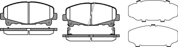 Колодки тормозные дисковые передние, 4 шт Road House 21390022139002