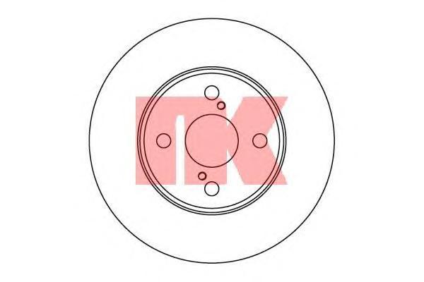 Диск тормозной NK 204582 комплект 2 шт204582