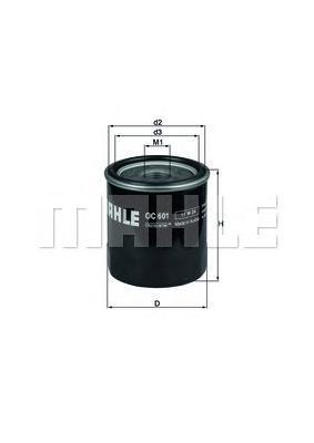 Фильтр масляный Mahle/Knecht OC601OC601