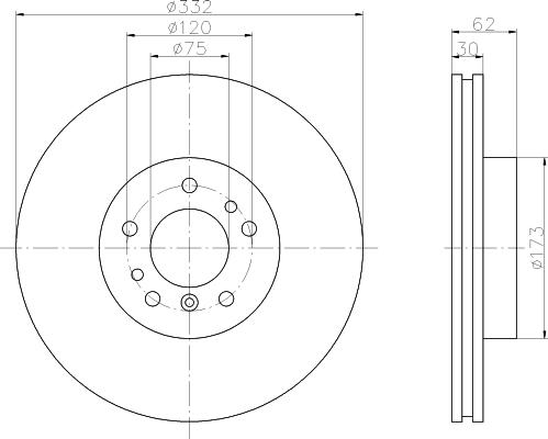Диск тормозной передний вентилируемый Textar 9210720592107205