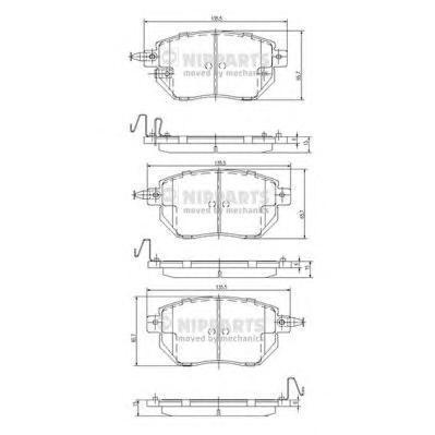 Колодки тормозные передние Nipparts J3601092J3601092