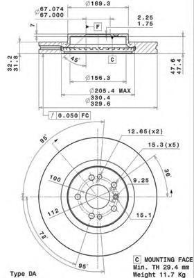 Диск тормозной Brembo 09R1041109R10411