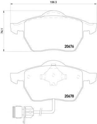 Колодки тормозные дисковые, 4 шт Textar 20676022067602
