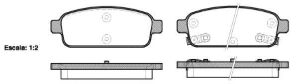 Колодки тормозные дисковые задние, 4 шт Road House 21432022143202