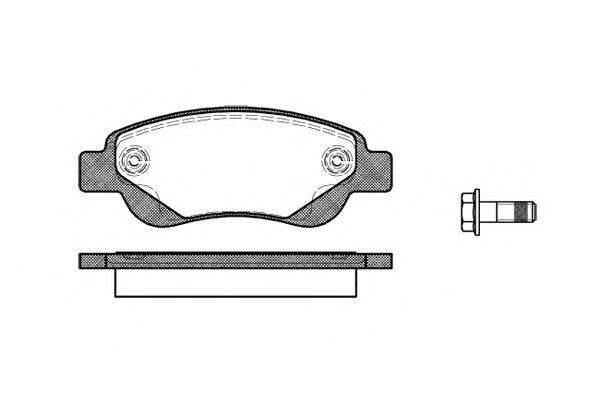 Колодки тормозные дисковые Remsa, комплект. 117700117700