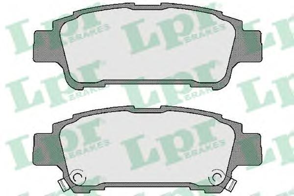 Колодки тормозные задние дисковыеLPR / AP 05P99605P996