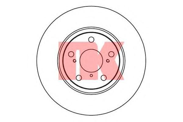 Диск тормозной NK 2045122 комплект 2 шт2045122