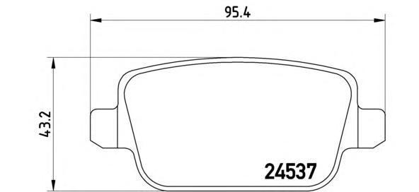 Колодки тормозные задние Brembo P44017P44017