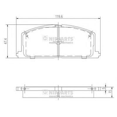 Колодки тормозные передние Nipparts J3602035J3602035