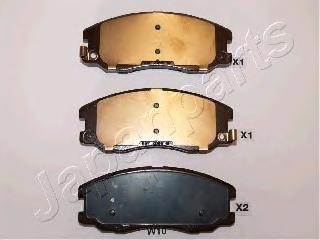 Колодки тормозные дисковые Japanparts PAW10AFPAW10AF