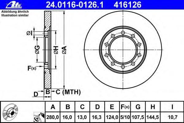 Диск тормозной Ate 24011601261 комплект 2 шт24011601261