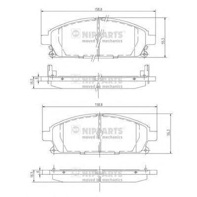 Колодки тормозные передние Nipparts J3601071J3601071