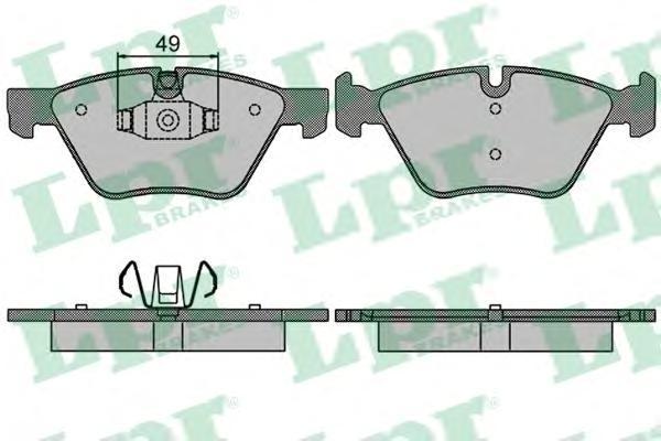 Колодки тормозные передние LPR / AP 05P151105P1511