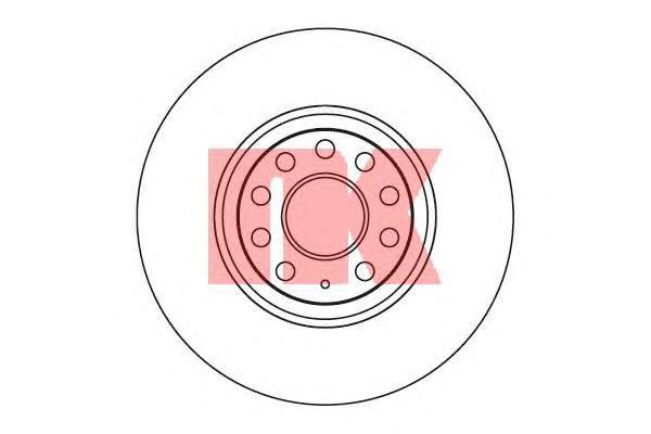 Диск тормозной NK 2047115 комплект 2 шт2047115